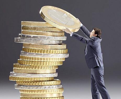 pillar of coins
